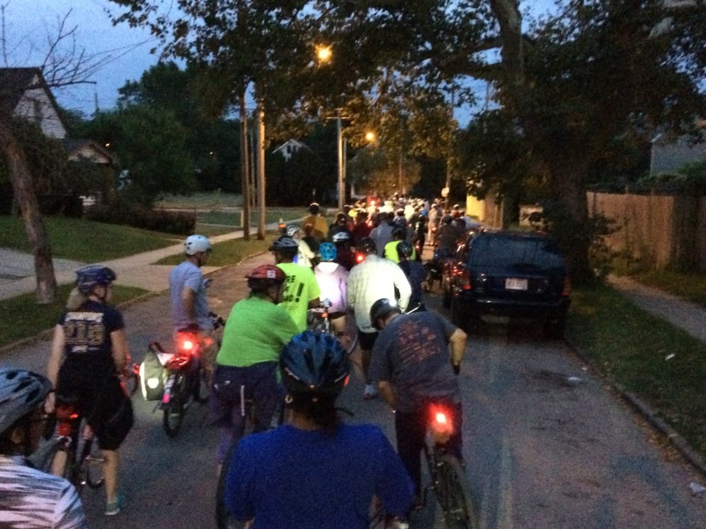 Slow Roll Cleveland Bicycle Event